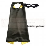 Black and Yellow Reversible Kids Plain cape with mask