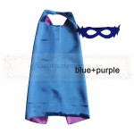 Blue and Purple Reversible Kids Plain cape with mask