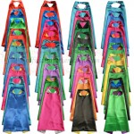 15 set - Party Pack - Kids Plain Capes with Masks