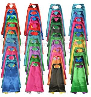 20 set - Party Pack - Kids Plain Capes with Masks
