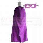Adult Purple Plain Cape with mask