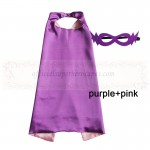 Purple and Pink Reversible Kids Plain cape with mask