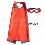 Red and Blue Reversible Kids Plain cape with mask