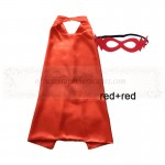 Red and Red Reversible Kids Plain cape with mask