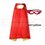 Red and Yellow Reversible Kids Plain cape with mask