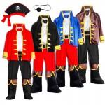 Pirates Costume Children's Day Kids Boys Pirate Halloween Cosplay Set Birthday Party