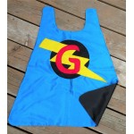 Personalized Superhero Cape - doublesided cape choose your initial - customized birthday gift