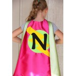 SHIPS Fast - Kid Superhero Cape with custom LETTER - Personalized Cape with Initial - Kids Costumes