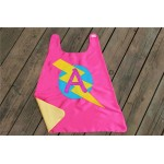 GIRLS doublesided (Personalized Initial) Superhero CUSTOMIZED Cape - Personalized girl birthday gift
