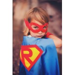 Holiday Sale - Includes FREE MASK with this cape Customized Boys Superhero Cape - Personalized Shield Cape with your Childs Initial