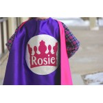 New Girls PERSONALIZED Full NAME SPARKLE Princess Crown Super Hero Cape - Easter Ready - Girls Princess Party - Superhero Party