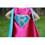 Sparkle GIRLS Superhero Cape Personalized - Customize with your childs initial - Kid Costume - Girl Superhero