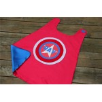 BOYS CAPTAIN AMERICA Style Superhero Cape - Personalized with full name - Customized Gift - Unique birthday gift