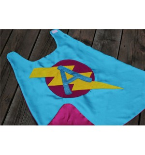 GIRLS Superhero Personalized with your childs initial - CUSTOMIZED Cape - Personalized girl birthday gift - Kid gift
