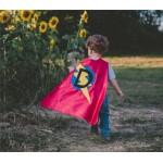 Personalized Superhero Cape - Customized with your initial choice - Lots of color choices - Boy Birthday Gift - Costume