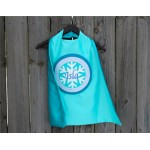 Personalized Sparkle Snow Princess COSTUME CAPE - Sparkle Snowflake - personalized with your childs full name - Halloween Ready Ships Fast