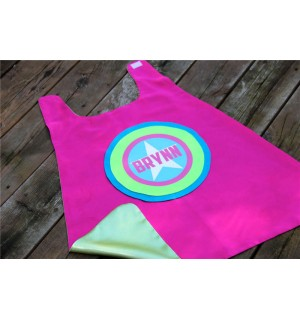 Girls PERSONALIZED SUPERHERO Cape with full name - Super star cape - Customized Cape - Kid gift - As seen on Cool Mom Picks