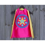 PERSONALIZED Custom Star SUPERHERO CAPE - Personalize it with your childs initial