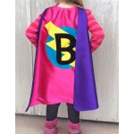 Holiday Sale - Our best selling Kids SUPERHERO Cape Personalized double sided cape - Any Initial - Boy Birthday Gift - Cost