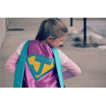 NEW Sparkle Personalized Girl SUPERHERO CAPE - Fast Delivery - Customize with your childs initial - Kid Costume - Girl Superhero Party