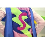 NEW Girls Superhero Cape with Initial - Personalized - FAST DELIVERY - Super hero party cape