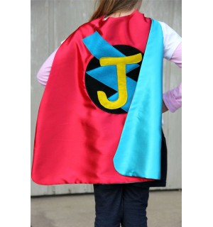Fast Delivery - Custom Cape - PERSONALIZED SUPERHERO Cape - Choose the Initial - Boy Birthday Gift or Super hero party cape