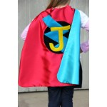 Fast Delivery - Custom Kids Cape - PERSONALIZED SUPERHERO Cape - Choose the Initial - Boy or Girl Birthday Gift or Super hero party cape