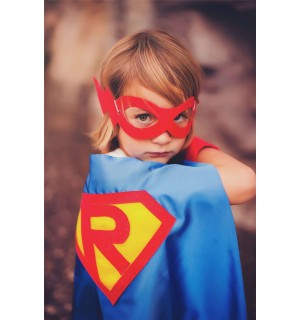 Fast Shipping - CUSTOMIZED BOYS SUPERHERO Cape - Personalized Shield with your childs initial - Boy Hero Cape - Boy birthday gift