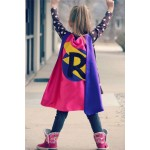 Holiday Sale - PERSONALIZED GIRL SUPERHERO Cape - Custom Initial - Lots of color combinations to choose from - Girl birthday gift