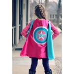 GIRLS Personalized Super Hero Cape - STAR SUPERHERO Cape - Custom Full Name Gift - Fast Delivery