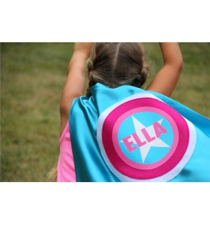 Girls FULL NAME - Customized Cape - Personalized Turquoise Cape -  Girls Hero Costume - Ships Fast