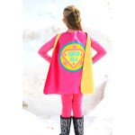 Kids  Personalized Superhero Cape - FULL NAME Custom Shield Cape - Make Believe Gift - Superhero Party - Fast Shipping - Halloween Costume