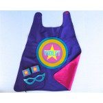 GIRLS Full Name PERSONALIZED SUPERHERO Cape - Super star cape - As seen on Cool Mom Picks - Full Name or Nickname - Optional Accessories