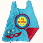 READY to SHIP - Big Brother Superhero Cape SET - Includes Cape and Wrist Bands and Mask - Sibling gift - big brother gift - new baby