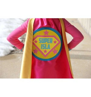 FULL NAME Custom Shield Cape - Kids  Personalized Superhero Cape - Girls Make Believe Gift - Superhero Party - Fast Shipping -Easter Basket