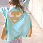 KIDS Personalized Mint and Gold Superhero Cape Set - Gold Shield - INITIAL - Gold wrist bands - Basic bolt mask