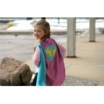 Orchid Sparkle Personalized Girl SUPERHERO CAPE - Fast Delivery - Customize with your childs initial - Kid Costume - Girl Superhero Party