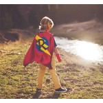 Holiday Sale - Super FAST DELIVERY - PERSONALIZED Boys Superhero Cape - Choose the Initial - Super hero party cape