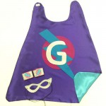Fast Shipping - Girls Superhero Set - Personalized Super Hero Cape Set - Includes superhero mask and coordinating wrist bands