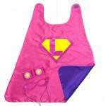 Girls CUSTOM INITIAL SHIELD Superhero Cape - Fast Shipping - optional coordinating sparkle wrist bands and Super Hero Mask