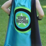 NEW - Super Brother Superhero Cape - READY to SHIP - Sibling gift - big brother gift - new baby - Ships Fast