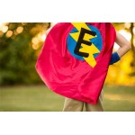 SHIPS FAST - Kids Custom Superhero HALLOWEEN Costume - Superhero Cape Personalized double sided cape - Any Initial - Boy Birthday Gift