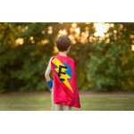 BEST SELLING Superhero Cape Personalized double sided cape - Any Initial - Boy Birthday Gift - Kids Custom Superhero HALLOWEEN Costume