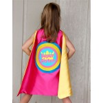 Customized Girls PRINCESS SUPERHERO Crown Cape - FAST Shipping - Personalized girls cape with full name or phrase - Halloween Kids Capes