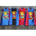 Boys PERSONALIZED SUPERHERO CAPE - Customized Full Name Cape - Superhero Party - Hero gift - Ships fast - choose your colors