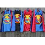 Ship Fast - Kids Costume - Boys PERSONALIZED SUPERHERO CAPE - Customized Full Name Cape - Superhero Party