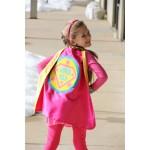 FULL NAME Custom Shield Cape - Personalized Superhero Cape - Girls Make Believe Gift - Superhero Party - Fast Shipping - Halloween Ready