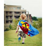 Fast Shipping - BOYS SUPERHERO Cape with LETTER - Choose the Initial - Custom Kids Costumes - Boy Birthday Gift or Super hero party cape