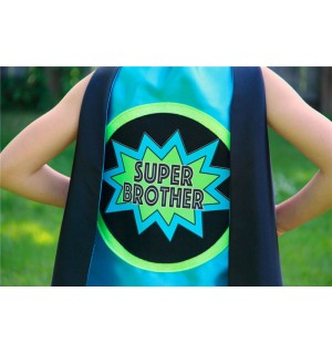 SUPER BROTHER SUPERHERO Cape - Ready to Ship - Sibling gift - big brother gift - new baby - Ships Fast