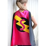 Fast Shipping - Girls SPARKLE INITIAL SUPERHERO Cape - Christmas Gift - Kids Costumes - Girls Superhero Costume Party